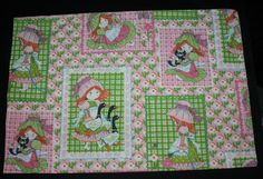 Vtg Pillowcase Pillow Case Prairie Girl Geese Bed Linen 1970's Vtg by myrustygold on Etsy