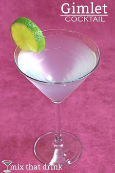 The classic Gimlet cocktail recipe balances gin with sweetened lime juice. I've included a couple of different recipes, depending on whether you want to use Rose's lime or fresh squeezed lime juice. Both are delicious.