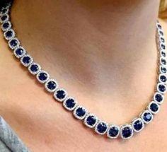 Diamond Tennis Necklace, Diamond Initial Necklace, Diamond Solitaire Necklace, Sapphire Jewelry, Gold Jewelry, Fine Jewelry, Blue Sapphire Necklace, Diamond Bracelets, Sapphire Gemstone