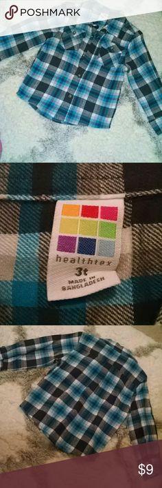 Blue plaid button down flannel shirt blue plaid button down flannel shirt, never worn Shirts & Tops Button Down Shirts