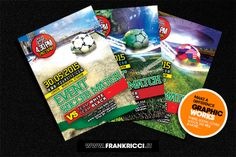 #Flyer e #Facebookcover #Template per la vostra prossima partita di #calcio con scelta delle palle e dei background! Scarica il file http://frankricci.it/soccer-event-1/