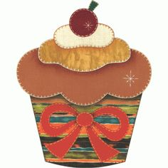 Patch collage cupcake cereja