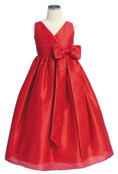New Criss Cross Bow Flower Girl Dress Assorted Color Choices) 2 to 12 Girls (Apparel) Red Flower Girl Dresses, Little Girl Dresses, Cute Dresses, Girls Dresses, 50s Dresses, Dress Red, Elegant Dresses, Christmas Dress Women, Girls Special Occasion Dresses