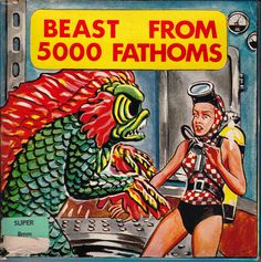 beast from 5000 fathoms Scary Snakes, Movie Reels, 8mm Film, Cool Monsters, Sci Fi Films, Movie Covers, Cryptozoology, Movie Theater, Theatre