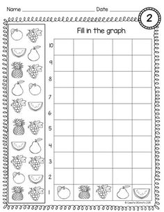 Count and Graph Kindergarten : Free printables for teachers. Count and Graph. Perfect math practice for kindergarten and first graders. 3 Graphs to count and fill in. Each graph has 5 questions. Graphing Worksheets, Graphing Activities, Kindergarten Worksheets, Numeracy, Free Worksheets, Math For Kids, Fun Math, 1st Grade Math, Graphing First Grade
