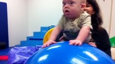Learning To Crawl With An Exercise Ball, and Why Every Child With Down Syndrome Should Have One.