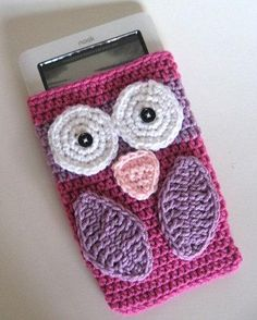 crochet owl e-reader case somebody make me one please