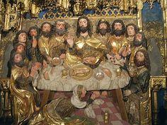 Gil de Siloe - Ultima cena - dettaglio Main Altar - 1496-99  - Monastery of Miraflores, Burgos