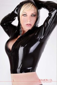 Latex jacket with atached hood made from thin latex