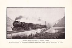 1901 Train Photograph - New York Central's 20th Century Limited - Vintage Antique Art Photography History Great for Framing 100 Years Old. $10.00, via Etsy.