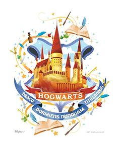 MightyPrint Harry Potter - Wall Art - Hogwarts - Officially Licensed Wall Art - NOT Made of Paper - Strong Reusable Décor for Kid Baby Nursery Dorm - by Trend Setters Ltd. Harry Potter Wall Art, Cute Harry Potter, Harry Potter Wallpaper, Harry Potter Universal, Harry Potter Hogwarts, Harry Potter World, Harry Potter Charms, Classe Harry Potter, Harry Potter Background