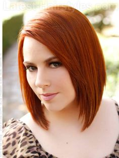 Auburn Straight Bob Hairstyles with Layers