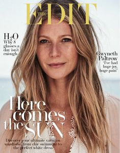 Gwyneth Paltrow Poses In Sunny Styles at the Beach for The Edit. June 2017