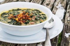 The Kitchenista Diaries: Creamy Kale and Potato Soup with Bacon
