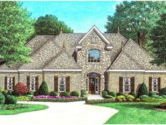 The Lees Summit Traditional Home has 4 bedrooms, 2 full baths and 1 half bath. See amenities for Plan 060D-0083.