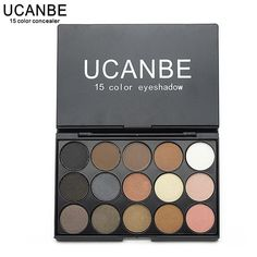 UCANBE Brand New Fashion 15 Earth Color Matte Pigment Glitter Eyeshadow  Palette Cosmetic Makeup Set Nude Eye Shadow palettes 7743415d7933d