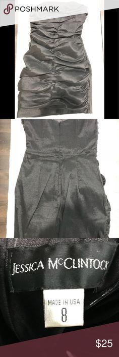 Jessica McClintock Black Strapless Dress Size 8 Great condition. Only worn once. Jessica McClintock Dresses Strapless