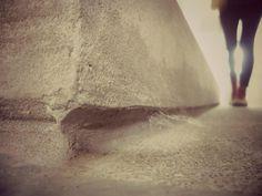 El muro no quería rozar el  piso *U*