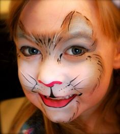 Kitty Cat Face Painting Ideas | Found on fascinatingfaces.co.uk