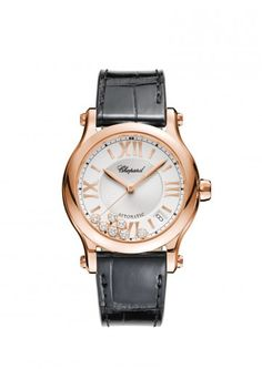 Chopard Watch Happy Sport Medium Automatic 18-carat rose gold and diamonds