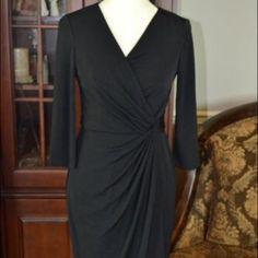 "Selling this ""WHBM black wrap dress"" in my Poshmark closet! My username is: fulce01. #shopmycloset #poshmark #fashion #shopping #style #forsale #White House Black Market #Dresses"