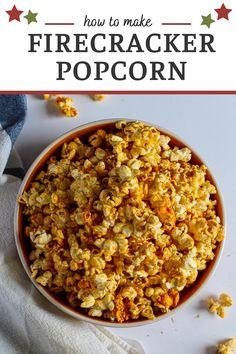 Popcorn Stovetop, Spicy Popcorn, Popcorn Bowl, Flavored Popcorn, Popcorn Recipes, Homemade Popcorn Seasoning, Seasoning Recipe, Homemade Seasonings, Appetizer Recipes