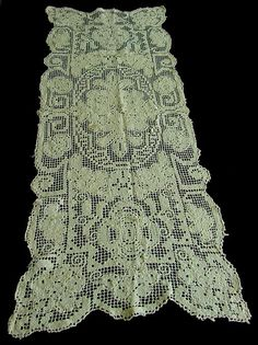 Pretty Vintage Lace Table Runner c.1930 by chalcroft on Etsy, $12.00