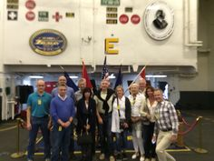 STIHL executive board members from Germany enjoying a special tour of the USS Harry S Truman CVN 75. Our thanks to all the brave men and women of the U.S. Navy for their service