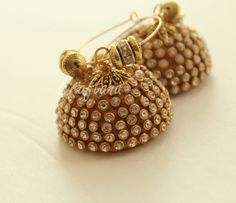 Silk thread earring/jhumka/Indian jewelry/Ganesha by Craftana
