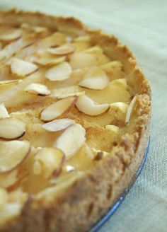 Almond Pear Cream Cheese Tart is a simple yet elegant dessert featuring delicious fresh pears. - Bake or Break