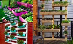 38 Ways of transforming palettes into plant containers - Creatistic Container Plants, Plant Containers, Pot Plante, Outdoor Structures, Patio, Inspiration, Loin, Creative Ideas, Gardening
