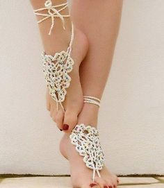 Lots of crochet sandal ideas and patterns