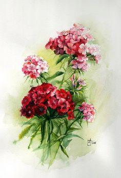Нет ничего прекраснее цветов... Художница Анастасия Беседина.. Обсуждение на LiveInternet - Российский Сервис Онлайн-Дневников