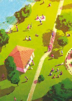 illustration -  travel, leisure, lifestyle, educational/info, entertainment, contemporary life, existence -Paul Castera