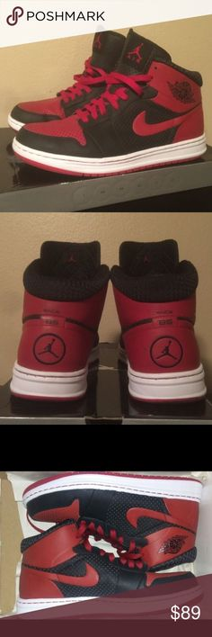 🎉 NIKE AIR JORDAN ALPHA 1 MENS SNEAKER SHOES Nike Air Jordan Alpha 1 Men Sneakers. Color: Black, Varsity Red, White. Size: 12 . Preowned.  Worn 2-3 times. Sold as is . Nike Shoes Sneakers