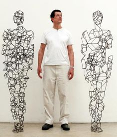 Gormley: 'Art is being ignored and that's a tragedy and a travesty' Antony Gormley in his north London studioAntony Gormley in his north London studio Art Sculpture, Metal Sculptures, Abstract Sculpture, Bronze Sculpture, Mass Drawing, Antony Gormley Sculptures, Crafts For 2 Year Olds, Fun Arts And Crafts, Anatomy Art