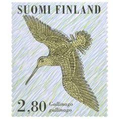 Postimerkki: Kahlaajalintuja - Taivaanvuohi | Suomen postimerkit