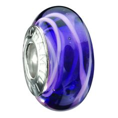 Chamilia Murano Glass - Ink Swirl O-18