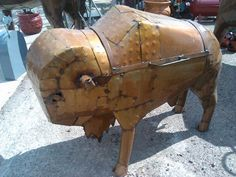 BEAUTIFUL MEXICAN WORK OF ART TIN METAL BABY BISON BUFFALO BBQ PIT COOKER!! | eBay