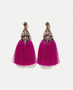 Image 2 of POMPOM EARRINGS from Zara