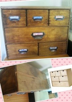 Ikea Moppe hack - apothecary box. I also added a timber top.