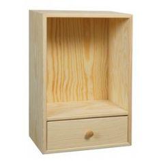 Bogkasse 30x45x19 cm, med 1 skuffe og 1 rum