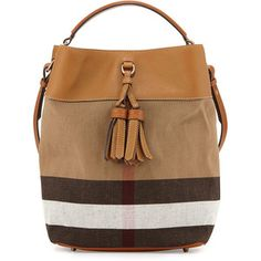 Burberry Asby Check Canvas Bucket Bag