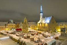 Tallinn (capital of Estonia) Christmas market has been praised as one of the best in Europe. Christmas market is held on the Town Hall Square in Tallinn. At the heart of it all - apart from Santa and his reindeers, who are eternal favourites with the kids - is Estonia's most famous Christmas tree, surrounded by little huts selling their wares.   http://www.visitestonia.com/en/tallinn-christmas-market