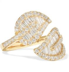 Anita Ko - Leaf 18-karat gold diamond ring - Anita Ko combines exceptional…