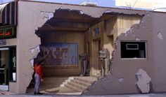 """""""Siete Punto Uno"""" by John Pugh - According to Pugh's website, Illusion-Art.com, this commemorative mural is located on a Main Street building in Los Gatos, California—one of the communities that suffered damage from the 1989 Loma Prieta earthquake. Photo courtesy of John Pugh."""