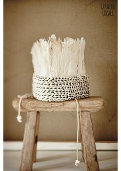 Feather Crown White Styling: Cleo Scheulderman photo: Jeroen van der Spek