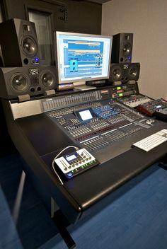 A pair of ADAM S3A and A7 at Heliac Studios, Belgium.