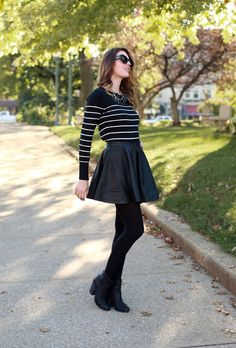 What I Wore | Sunny Side, Jessica Quirk, Leather Skirt