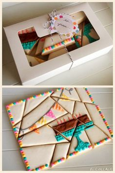 Puzzle cookies from sweet. by Stephanie Howard. Inspiration for the design by Laura Vein at Sweet Treats Baking.